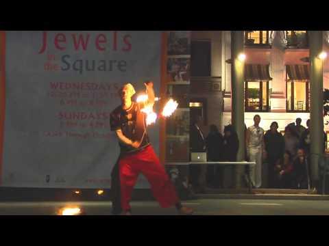 Fire Poi: Alien Jon & Thomas Nevisoul: 2009 Temple Of Poi Fire Dancing Expo