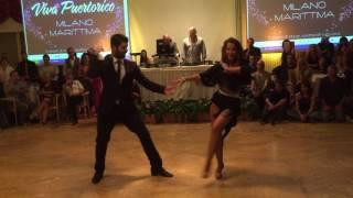 Esibizione Miguel & Silvia