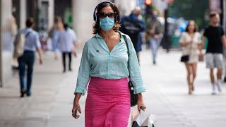 video: Face masks become new normal as figures show almost everyone wearing one outside the home