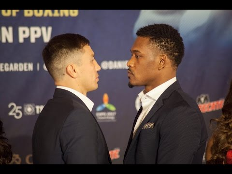 Gennady Golovkin vs Daniel Jacobs full final press conference & face off video