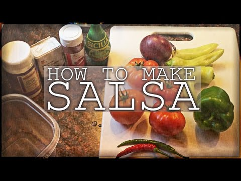 How To Make Salsa - Healthy Homemade Salsa Recipe Fresh Tomatoes