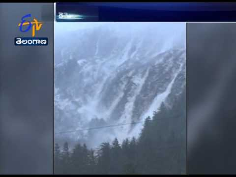 Snow Avalanche Turns | Water Falls | in Juneau, Alaska | US