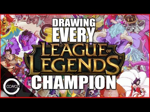 Drawing EVERY LEAGUE OF LEGENDS Champion!