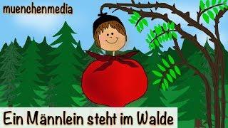 🎵 Ein Männlein steht im Walde - Kinderlieder deutsch | Kinderlieder zum Mitsingen - muenchenmedia