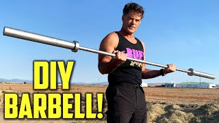 How to Make a Homemade BARBELL | DIY Duke
