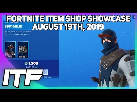Fortnite Item Shop *NEW* SHOT CALLER SKIN AND PICKAXE! [August 19th, 2019] (Fortnite Battle Royale)