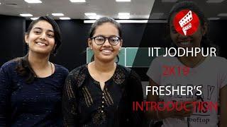 Freshers 2019 Introduction IIT Jodhpur