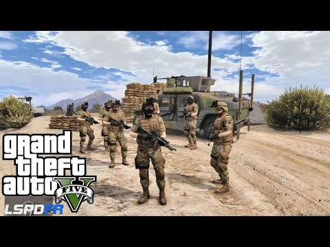 GRAND THEFT AUTO 5 LSPDFR -  TESTING FOR MILITARY PATROL (GTA 5 PC POLICE MODS)