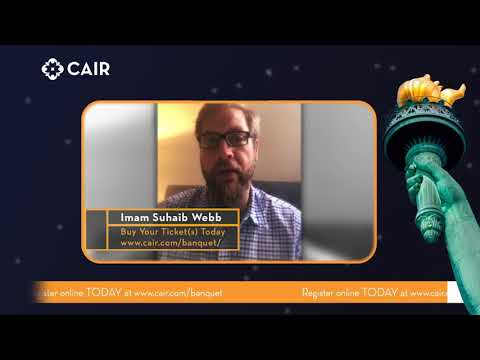 WATCH: Imam Suhaib Webb Invites You to CAIR's Annual Banquet Oct. 28 in Arlington, Va.