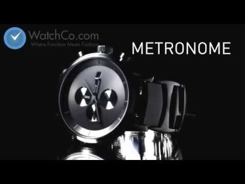 Vestal Mens Metronome Chronograph Stainless Watch