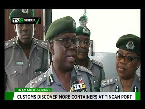Customs seizes another container loaded with Tramadol in Tin Can Port