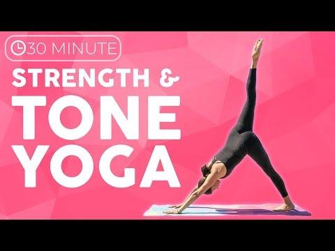 Full Body Power Yoga Workout | Strength & Tone (30 minute Yoga) Sarah Beth Yoga