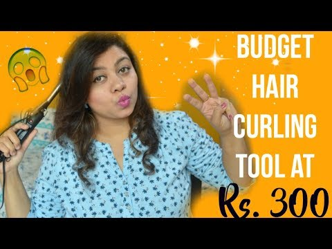 Budget Hair Curling tool at Rs. 300/- Is it worth? | Nailzfashionista | Bangalore Youtuber
