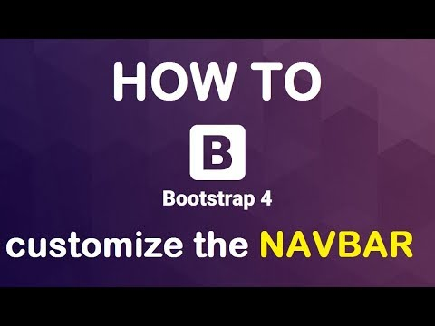 HOW TO change the bootstrap 4 NAVBAR background color
