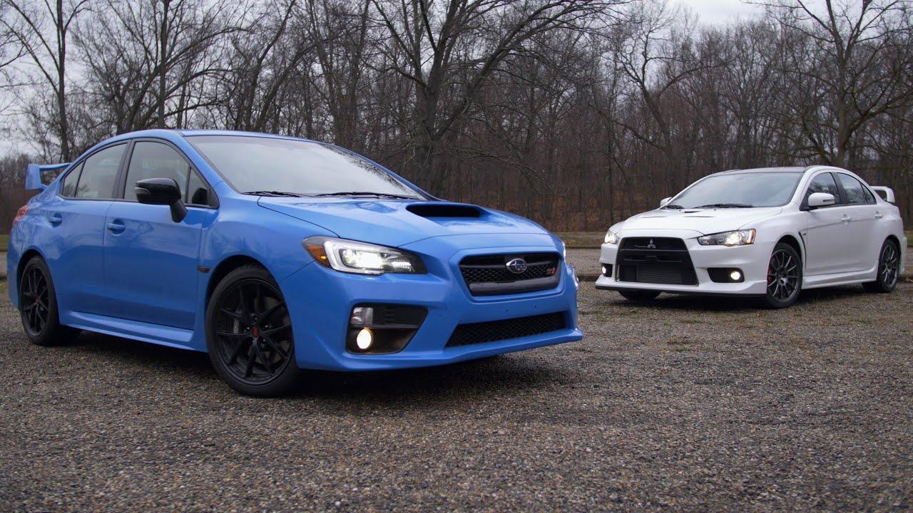Not a comparison test: Mitsubishi Lancer Evo vs. Subaru WRX STI ...