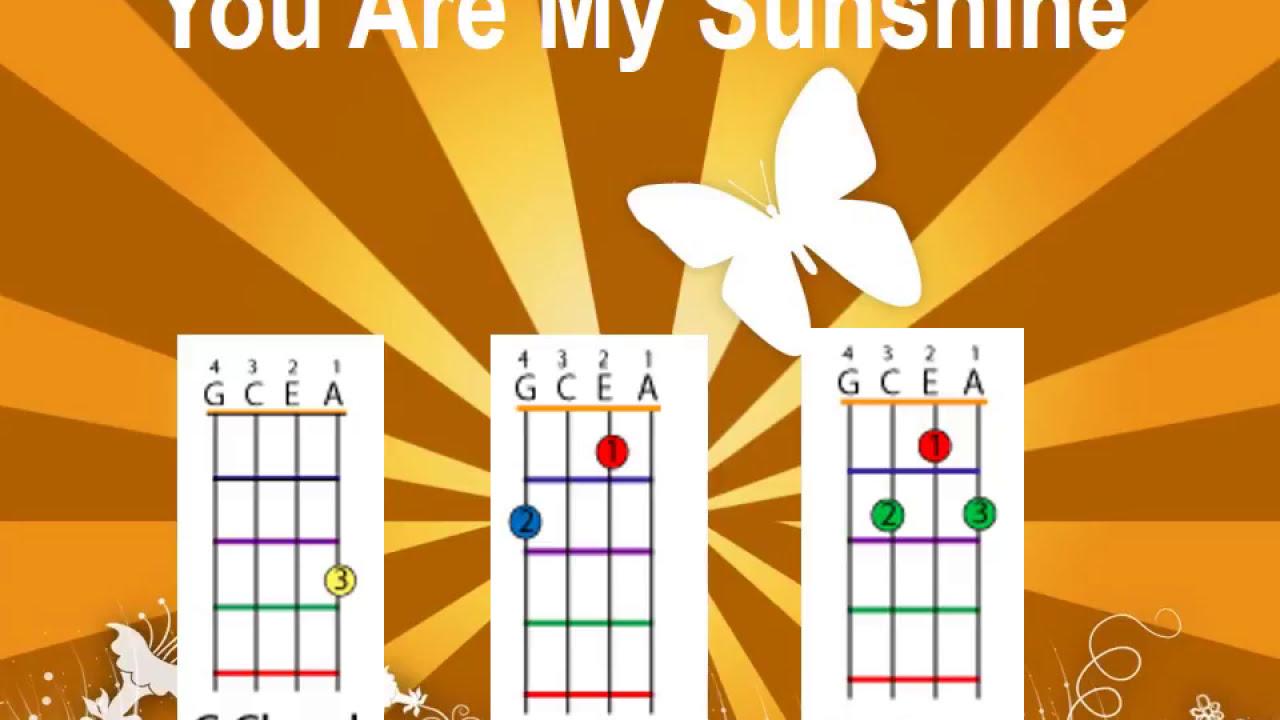You Are My Sunshine Chords For Ukulele Youtube