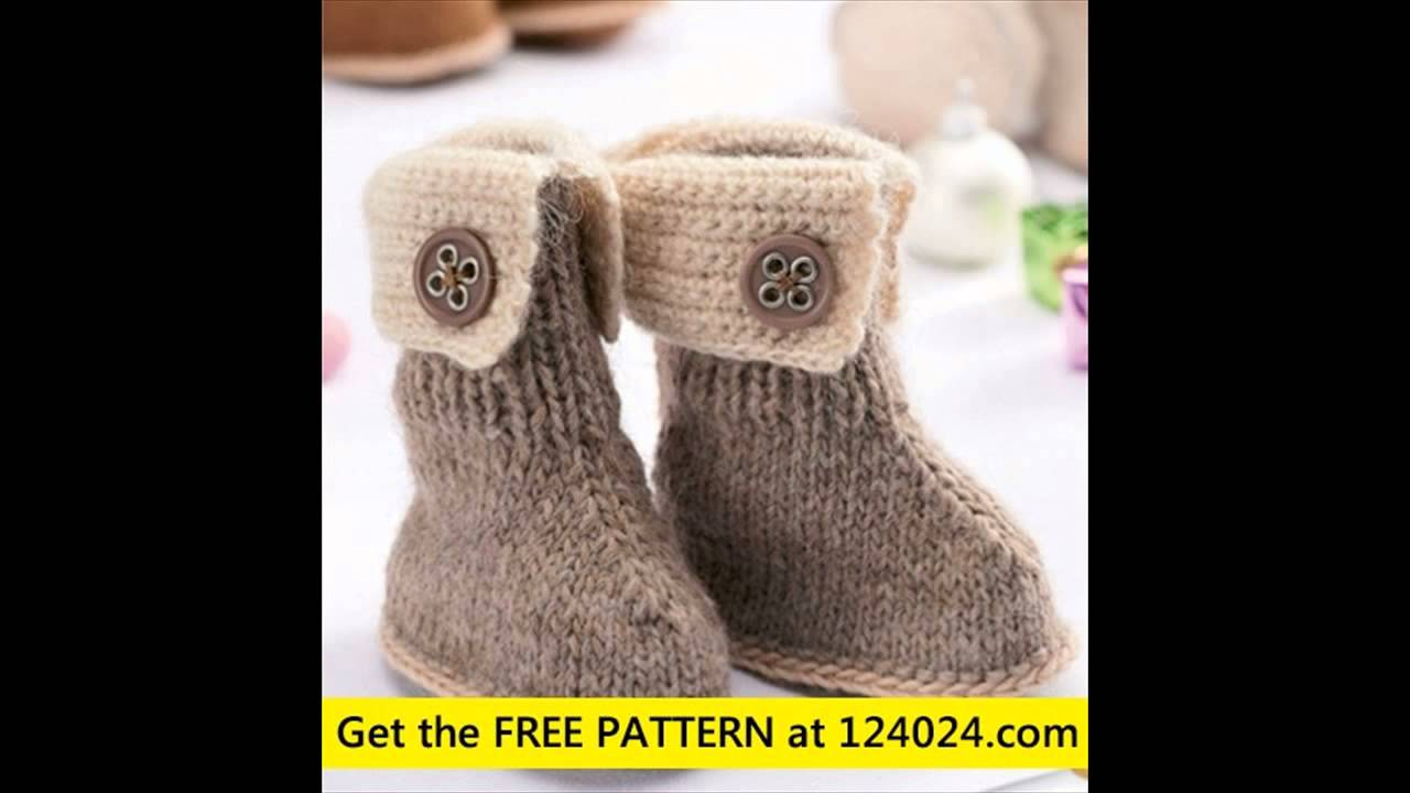 Baby Booties Knit Knit Slipper Boots How To Loom Knit Baby Booties