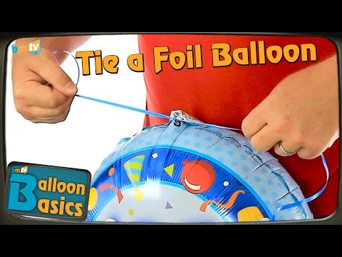 How to Tie a Foil Balloon to Ribbon - Balloon Basics 05