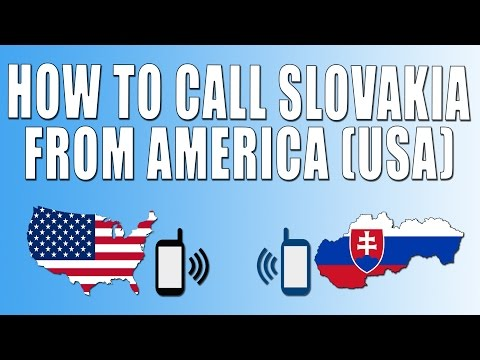 How To Call Slovakia From America (USA)