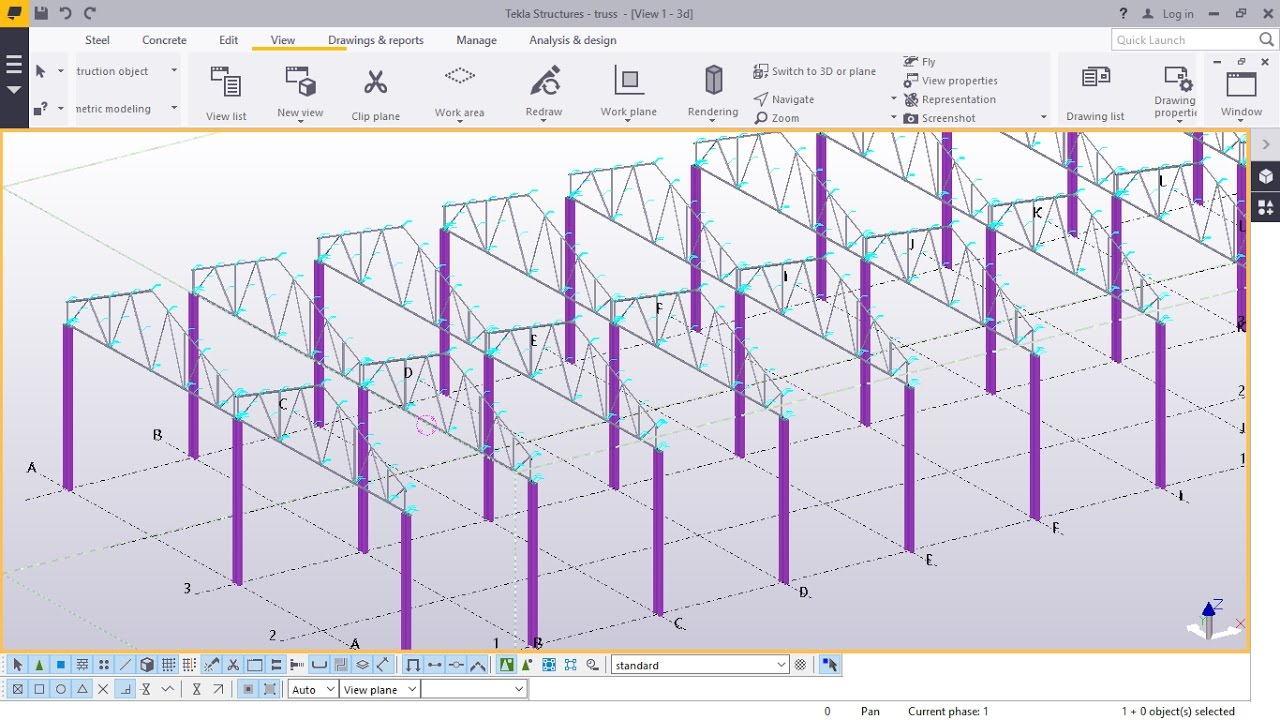 Create A Double Span Truss In Ten Minutes In Tekla