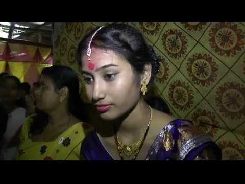 Wedding under flood water in Gohpur, Assam