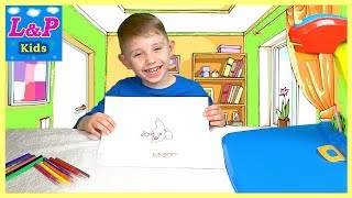 Toy vegetables for kids | Learn fruits and vegetables name with kids projector desk for сhildren