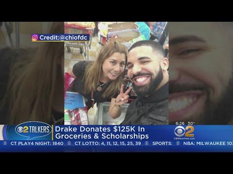 Drake Donates $125K In Groceries & Scholarships