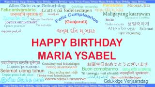 MariaYsabel   Languages Idiomas - Happy Birthday