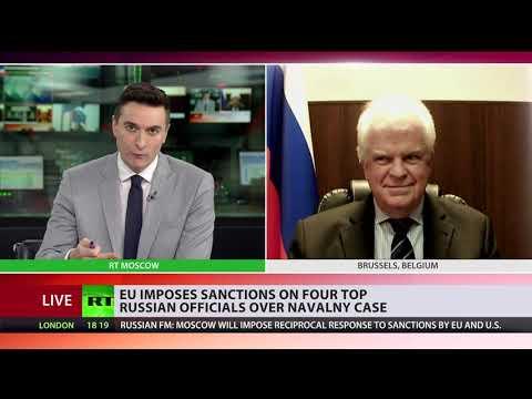 EU imposes sanctions on senior Russian officials | Russia's EU ambassador speaks to RT