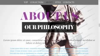 Retro Fashion Website Template