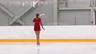 Всероссийские соревнования 'Надежды Росс Дeвушки, KMC Произвольная программа 14# Юлия КОНОВАЛЬЦЕВА
