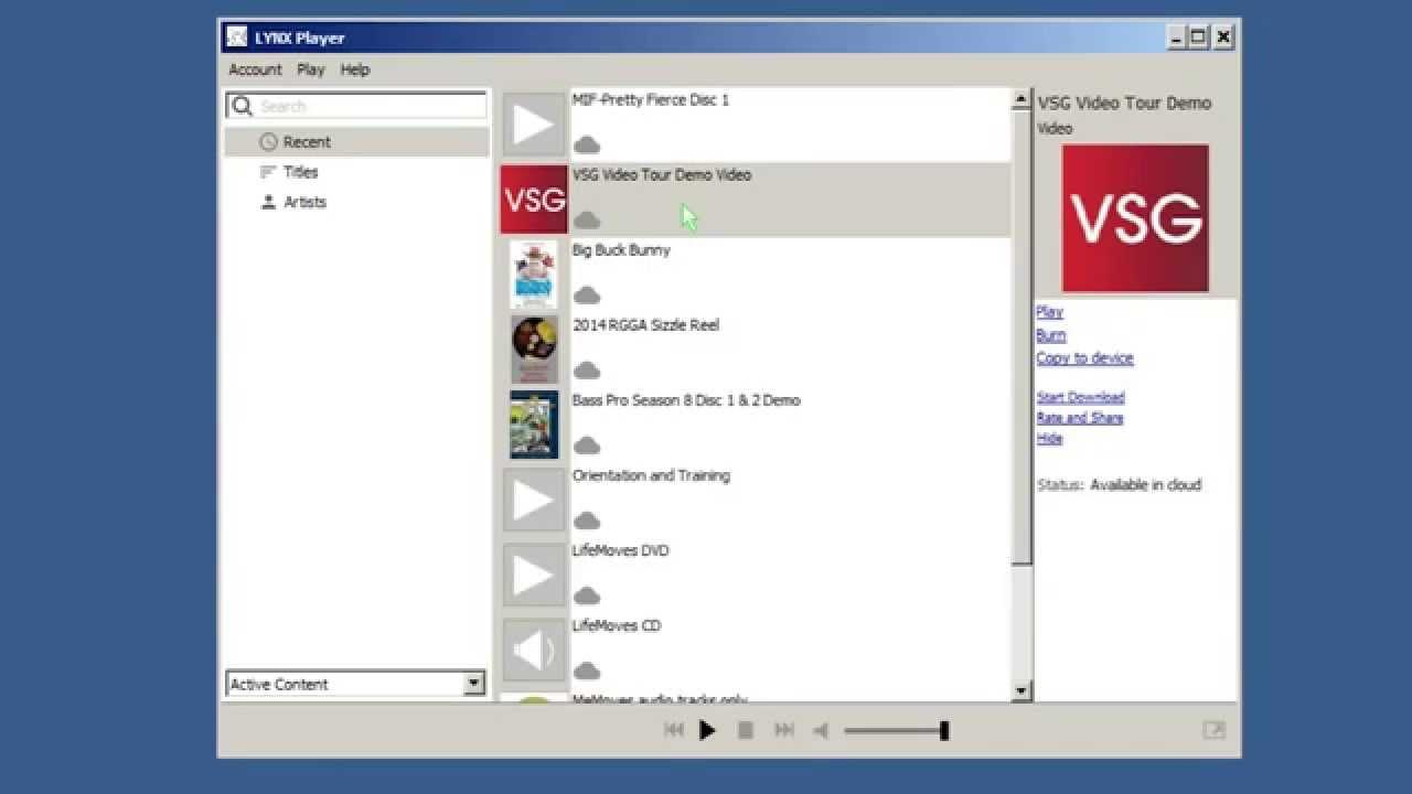 Lynx Player - Digital Downloads