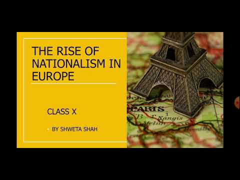 THE RISE OF NATIONALISM IN EUROPE  : PART 1 ( HINDI  VERSION)