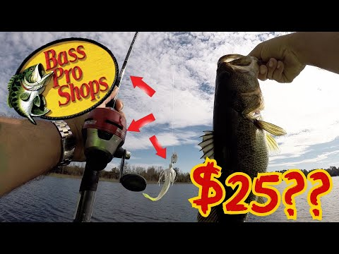 $25 Bass Pro Shops Fishing Challenge!! Big Bass on a WALMART BUDGET!! (SHOCKING!)