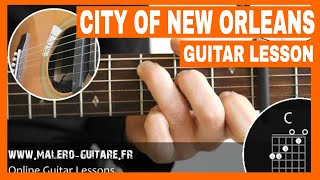 City Of New Orleans - Guitar Lesson