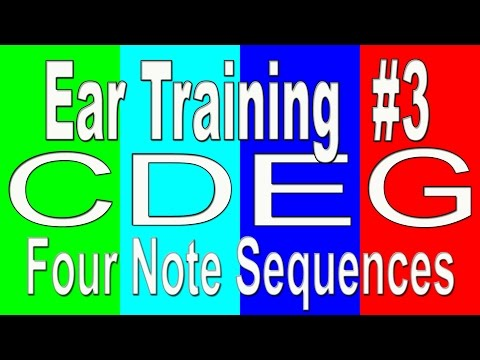 Ear Training Exercise #3 | 4 note sequences | Pitch Into The Color - Ear Training Part 3 [FULL]