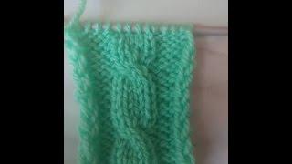 Вязание спицами узора Косички