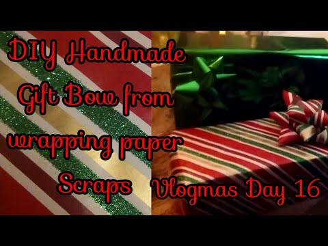 DIY- Handmade Gift Bow from wrapping paper scraps