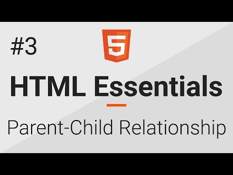 HTML Essentials # 3 - Text Editor And Parent Child Relationship