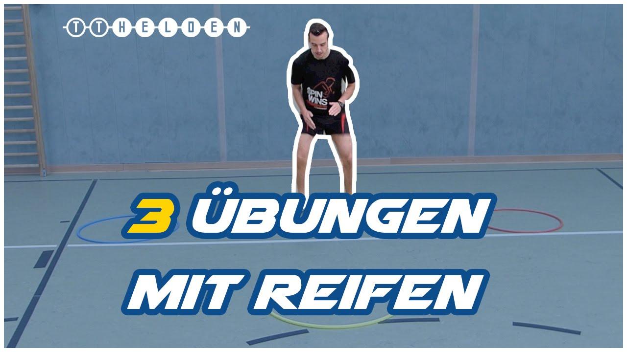 3 bungen f r koordination schnelligkeit mit einem reifen tischtennis helden youtube