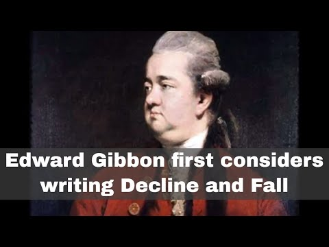 15th October 1764: Edward Gibbon first considers writing Decline and Fall of the Roman Empire