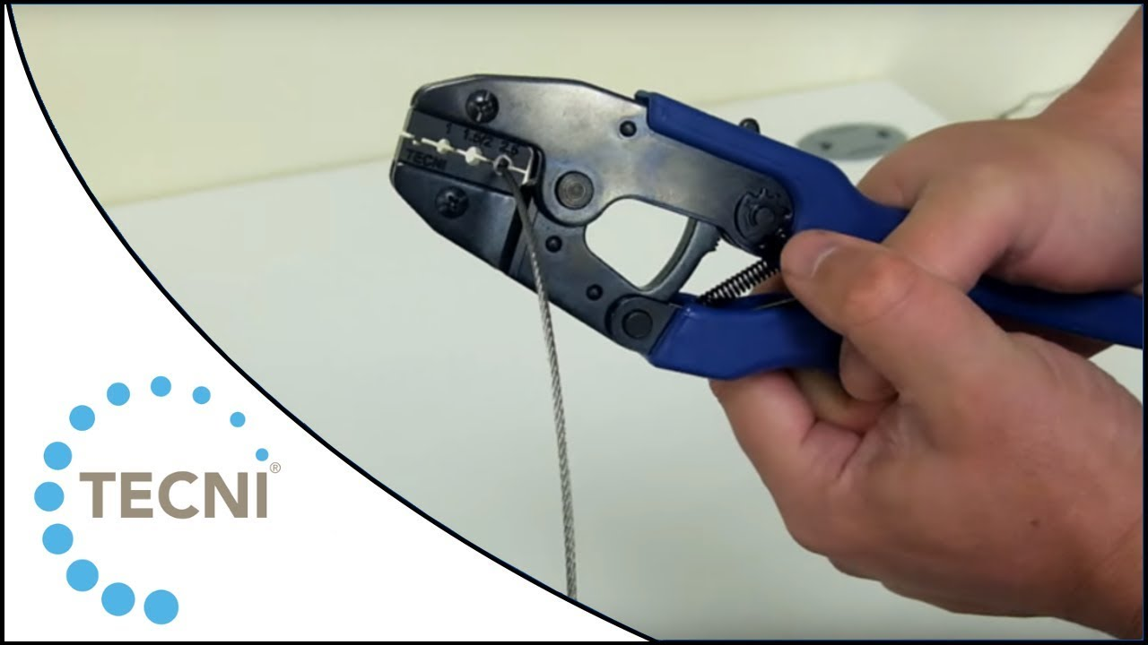 How to crimp ferrules onto wire rope using the TECNI® Crimping Tool ...