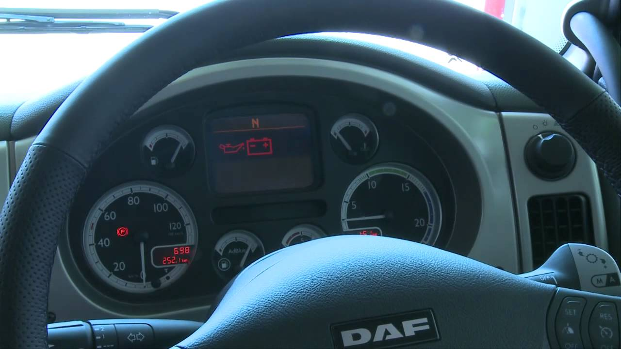 DAF XF105 Interior Euro5 tour