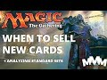 When to Sell Magic Cards from the Newest Set? A Review of Standard Set Prices