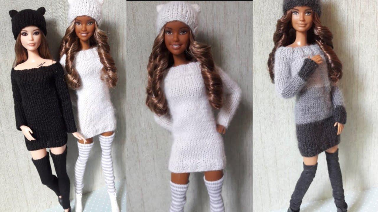 Barbie Kolay Dikişsiz Kıyafet Yapımı 2 - Kendin Yap Barbie Bebek Kıyafetleri - Oyuncak Yap