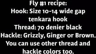 Fly Tying: Kurobe Kebari, How to Tie 2 Traditional Japanese Tenkara Flies With the Same Name