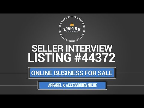Online Business For Sale – $10.5K/month in the Apparel & Accessories Niche