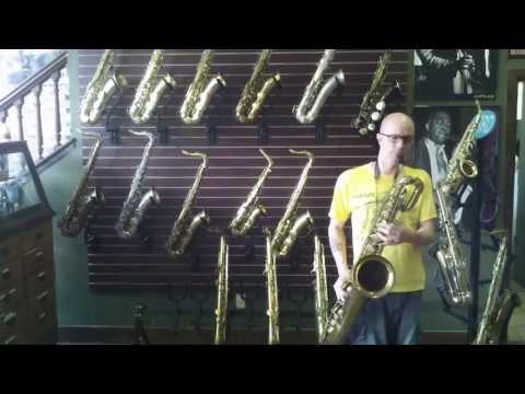 Ben Reece Plays CG Conn 12M Baritone Sax