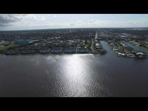 Vero Beach Indian River Lagoon September 11, 2017 after Hurricane Irma