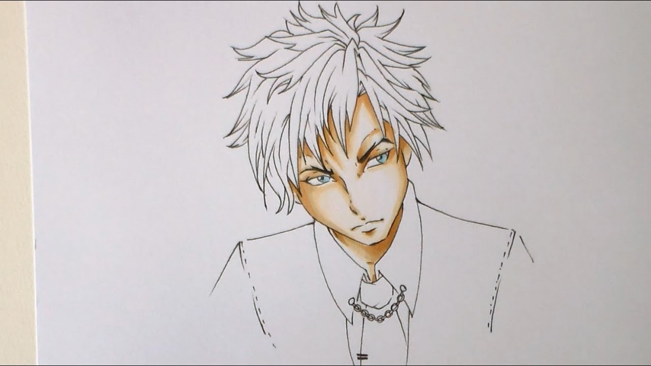 manga anime tutorial how to color boy skin with copic hd